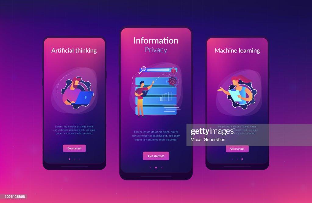 Big data applications app interface template.
