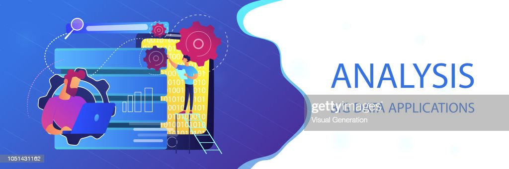 Big data applications header banner.