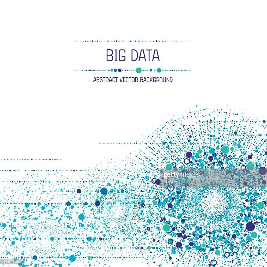 Sfondo di Big data : Illustrazione stock