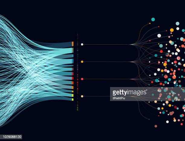 big data concept background - big data flow stock illustrations