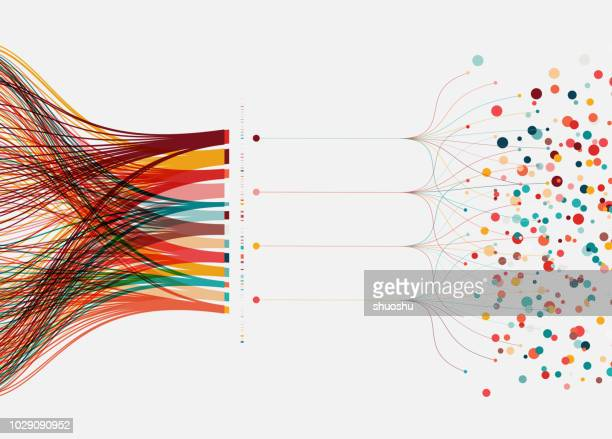 big data concept background - single line stock illustrations