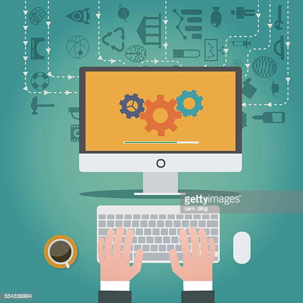big data, dashboard, infographic, growth, data, - scrutiny stock illustrations