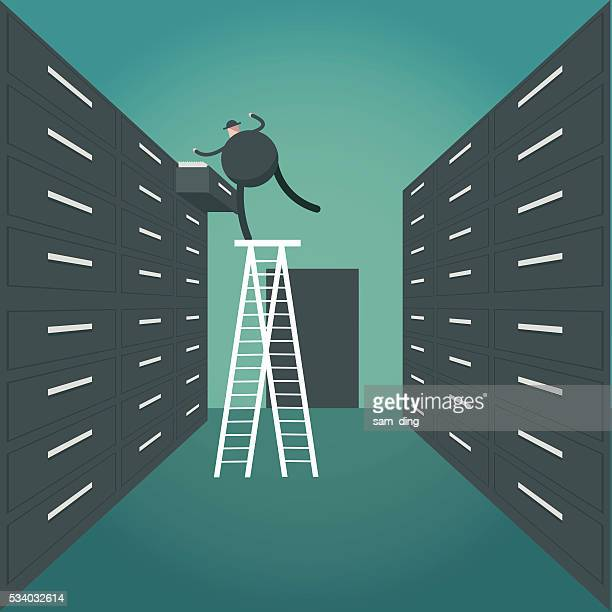 big data, data, privacy, file, storage room - filing documents stock illustrations, clip art, cartoons, & icons