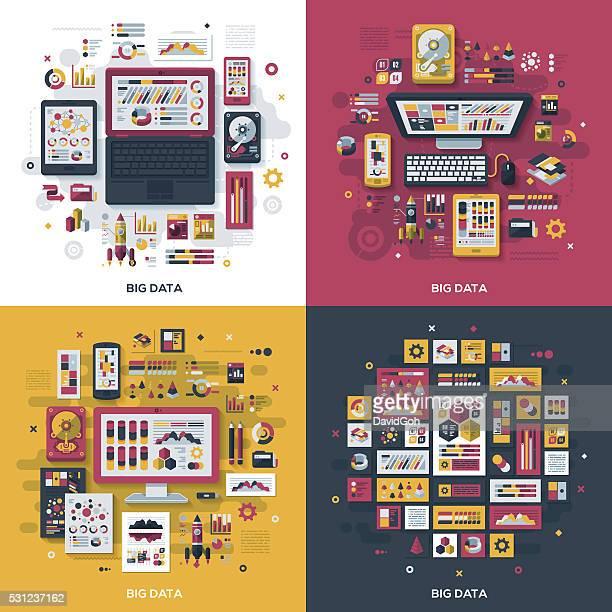 Big Data Flat Design Concepts