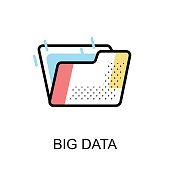 Big data Graphic Icon.Vector Illustration