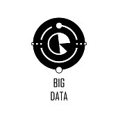 big data icon. Element of Web Development for mobile concept and web apps. Detailed big data icon can be used for web and mobile. Premium icon