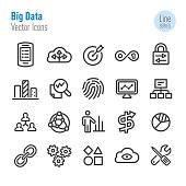 Big Data Icons - Vector Line Series