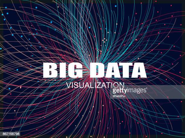 illustrazioni stock, clip art, cartoni animati e icone di tendenza di big data pattern background - big data