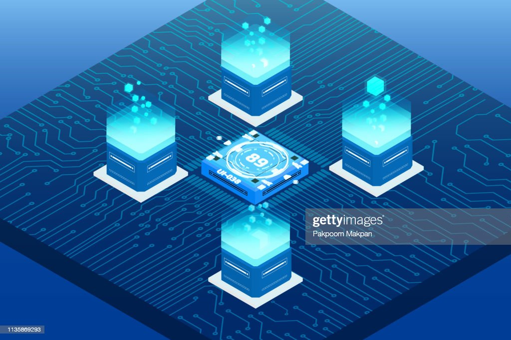 Big Data Server Security Protection On Circuit Board.