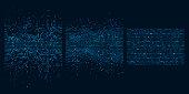 Big data sorting. Information analytics algorithms, machine learning and intelligence data picking vector concept illustration