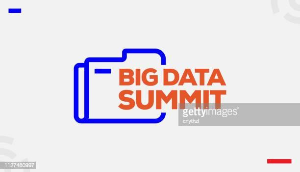 ilustraciones, imágenes clip art, dibujos animados e iconos de stock de concepto de cumbre de big data - agilidad