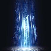 big data technology background concept vector