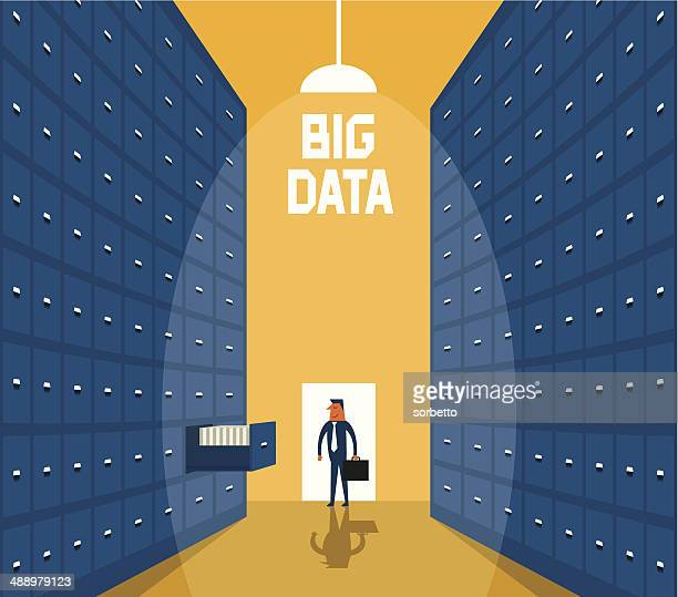 big data - filing cabinet stock illustrations
