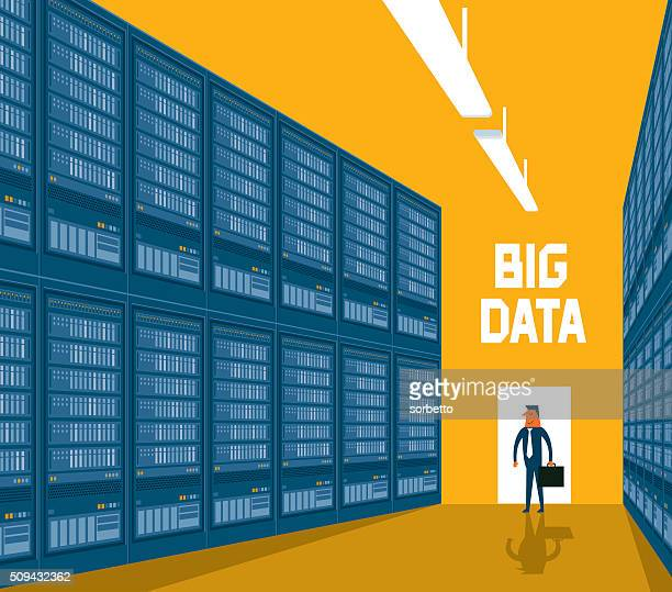 big data - storage room stock illustrations, clip art, cartoons, & icons