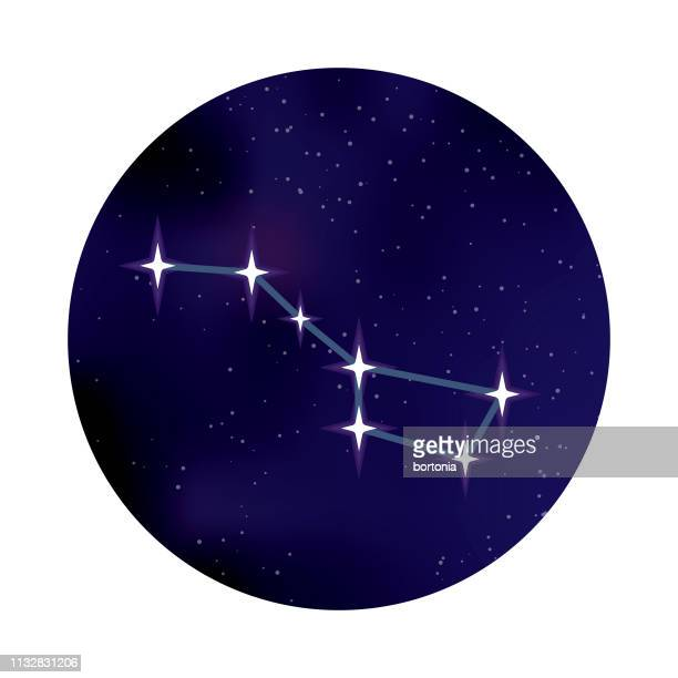 big dipper constellation space icon - constellation stock illustrations