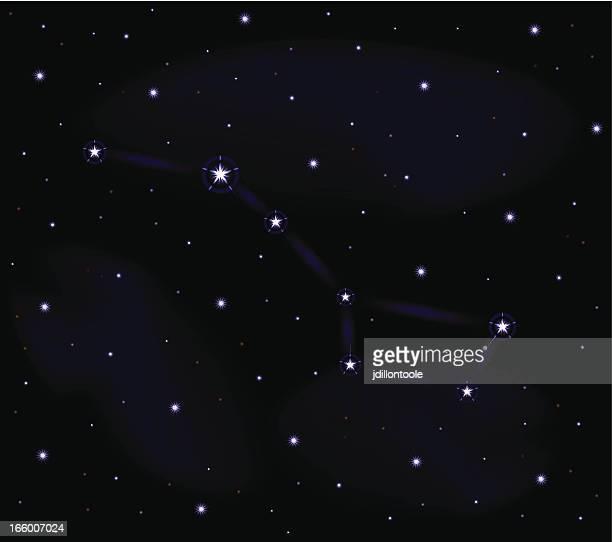 big dipper | star field - north star stock illustrations