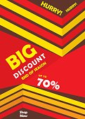 big discount banner design