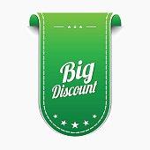 Big Discount Green Vector Icon Design