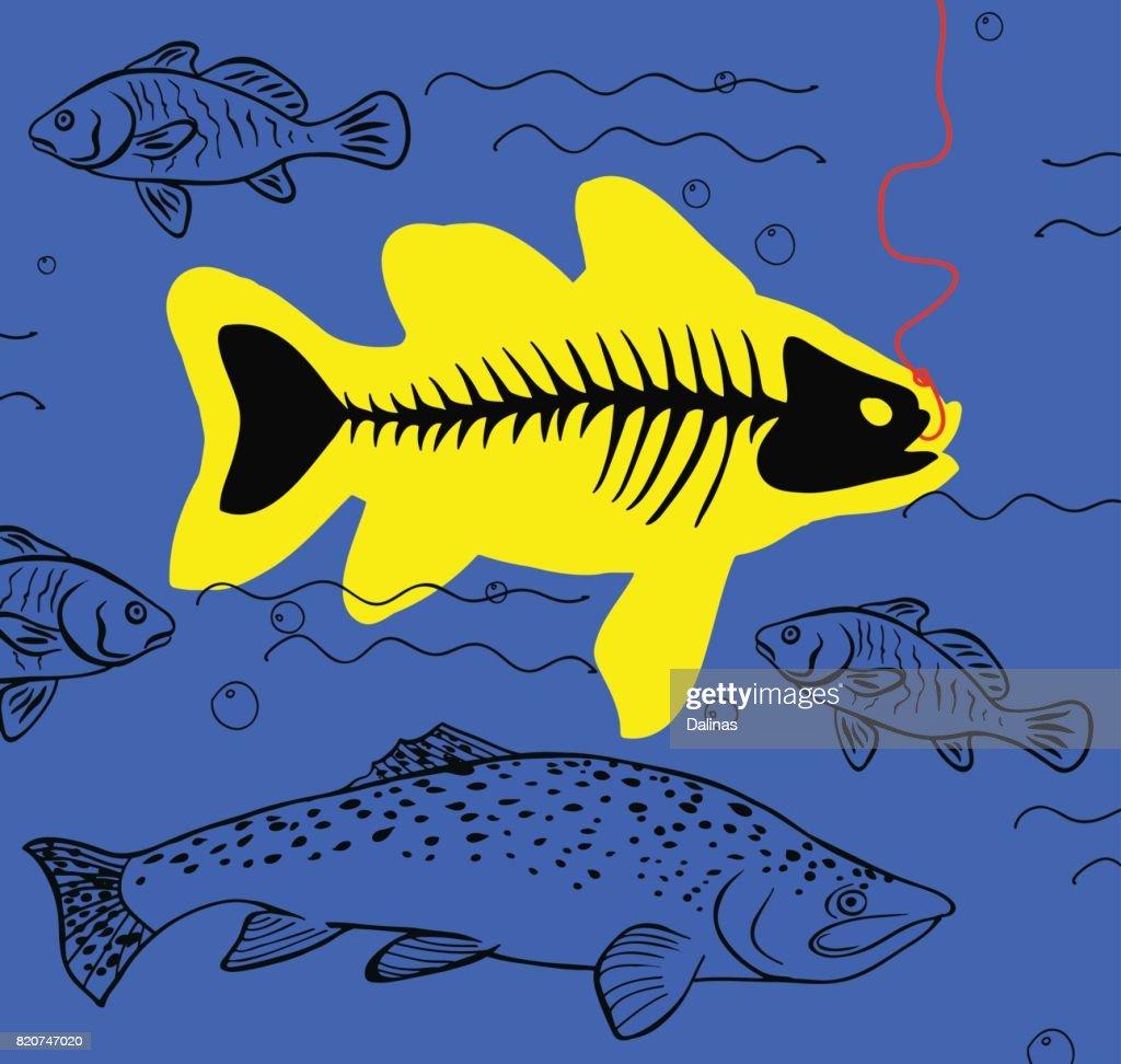 big fish on the hook