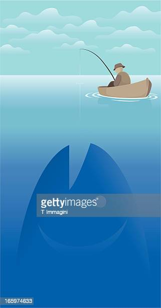 big fish - mare stock illustrations, clip art, cartoons, & icons