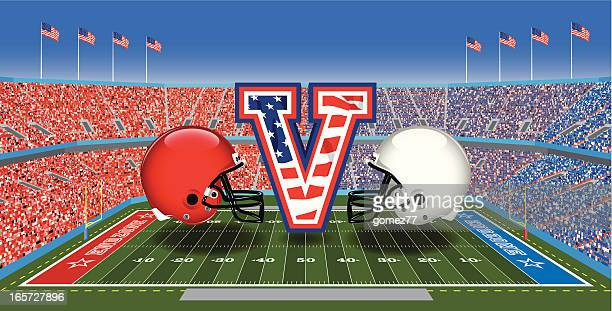 big game - football field stock illustrations, clip art, cartoons, & icons