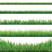 Big Grass Borders Set