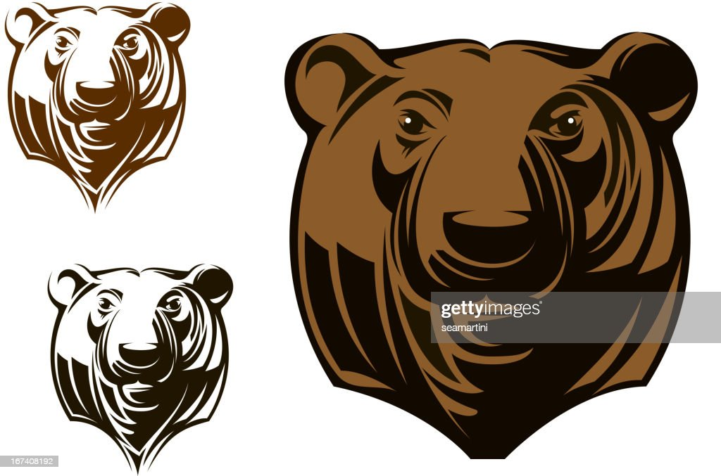 Big grizzly : Clipart vectoriel