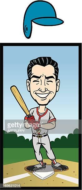 Big Head Baseball Player