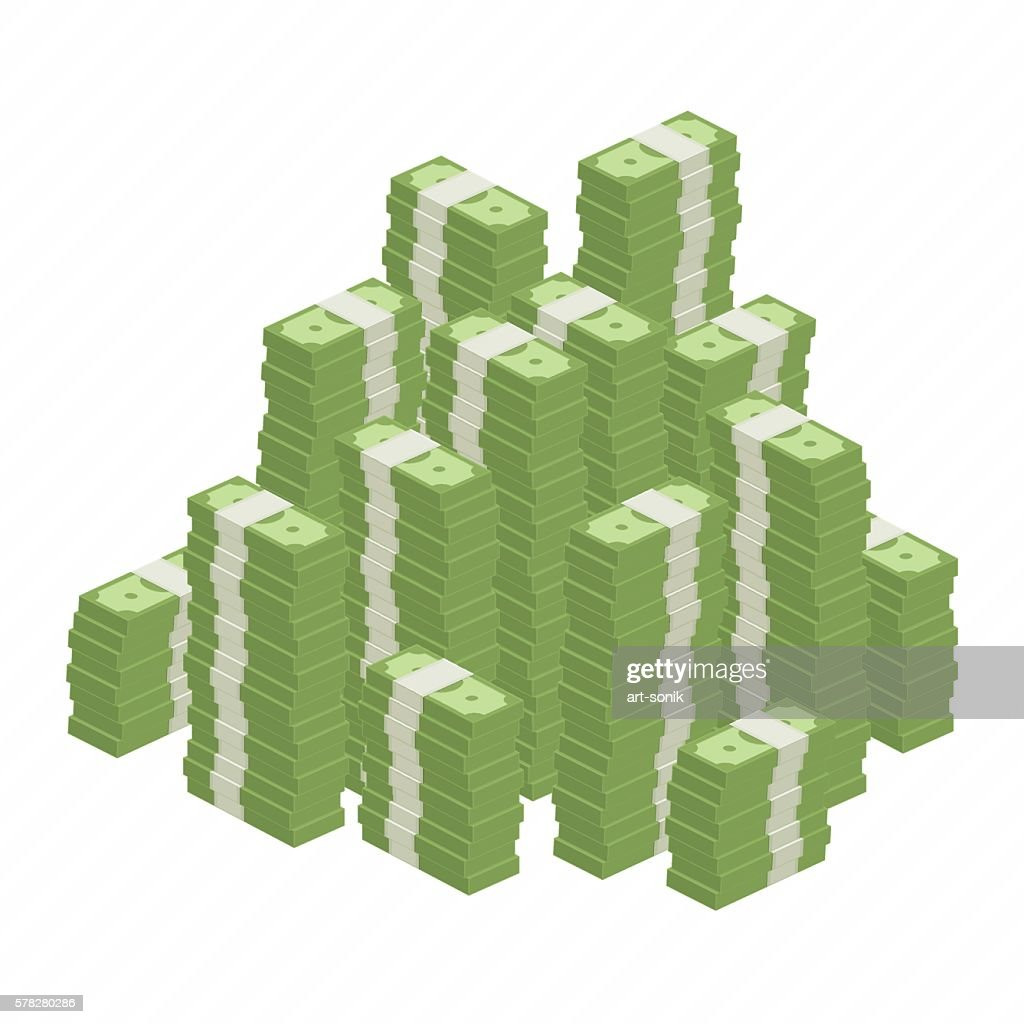 Big heap rolls of money