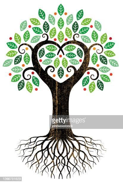 大きなハートツリーイラスト - 果樹点のイラスト素材/クリップアート素材/マンガ素材/アイコン素材