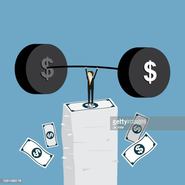 big money - weights stock illustrations, clip art, cartoons, & icons