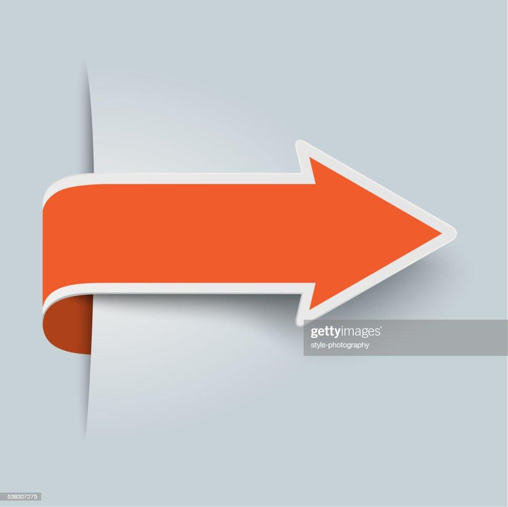 Big Orange Arrow