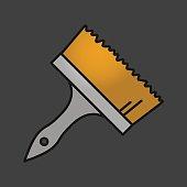Big paint brush icon