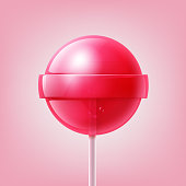 Big pink lollipop