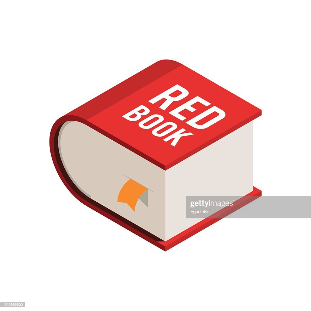 Big red book isometric icon