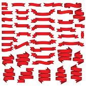 Big Red Ribbons Set