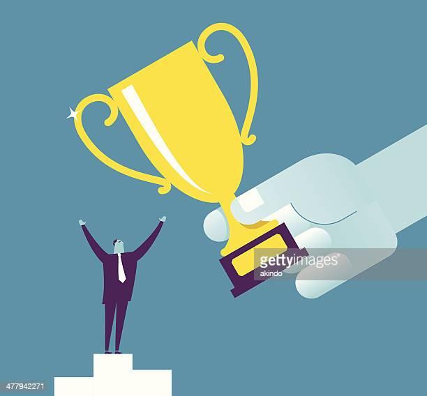 big reward - professional sportsperson stock illustrations