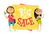 Big sale poster for school theme.