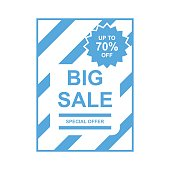 big sale /promotion tag/discount tag, label, background vector
