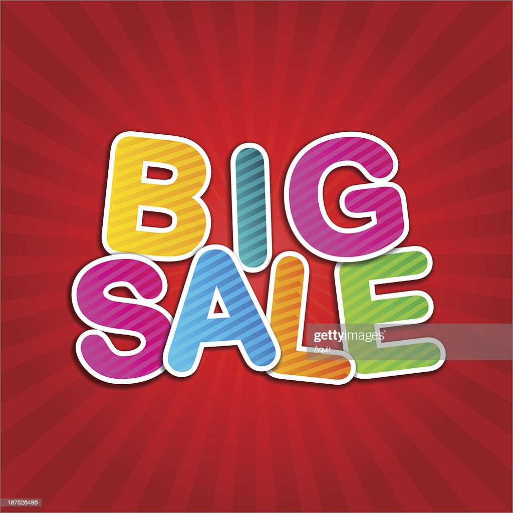 big sale red poster
