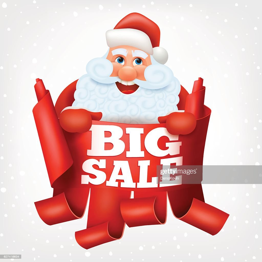 big sale santa claus christmas card vector art - Christmas Card Sale