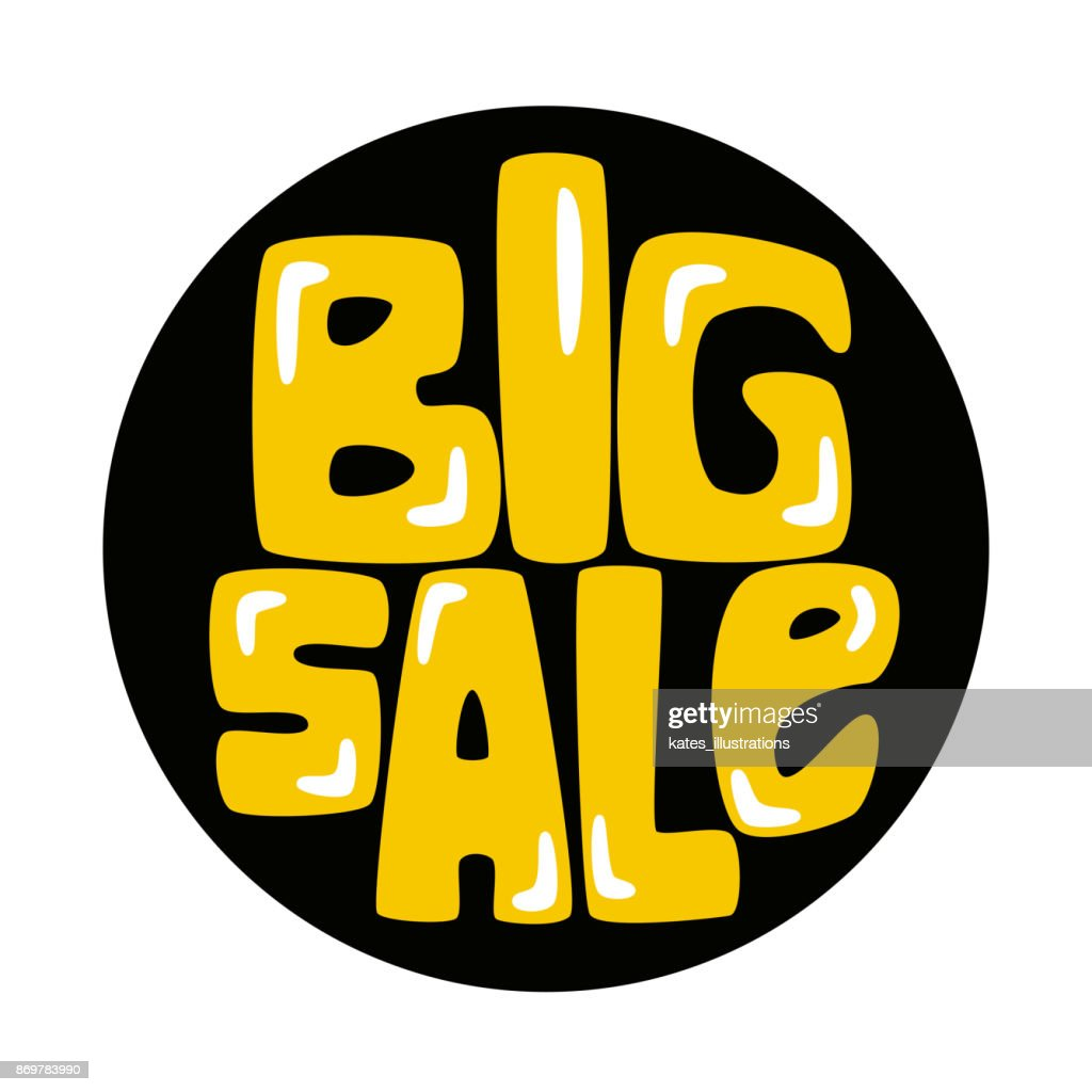 Big sale sticker