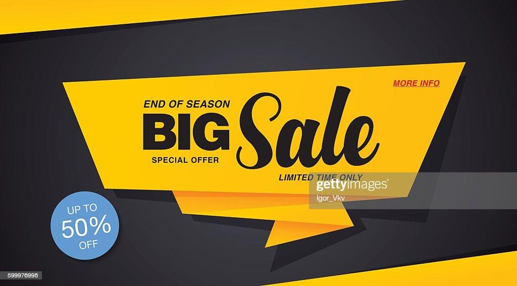 Big sale template banner