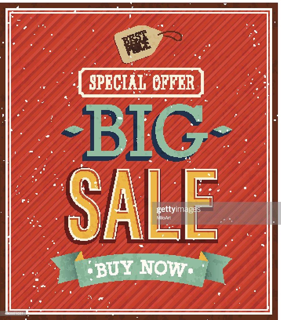 Big sale typographic design. : Vector Art