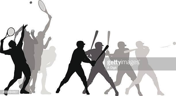 ilustraciones, imágenes clip art, dibujos animados e iconos de stock de bigserve - saque deporte