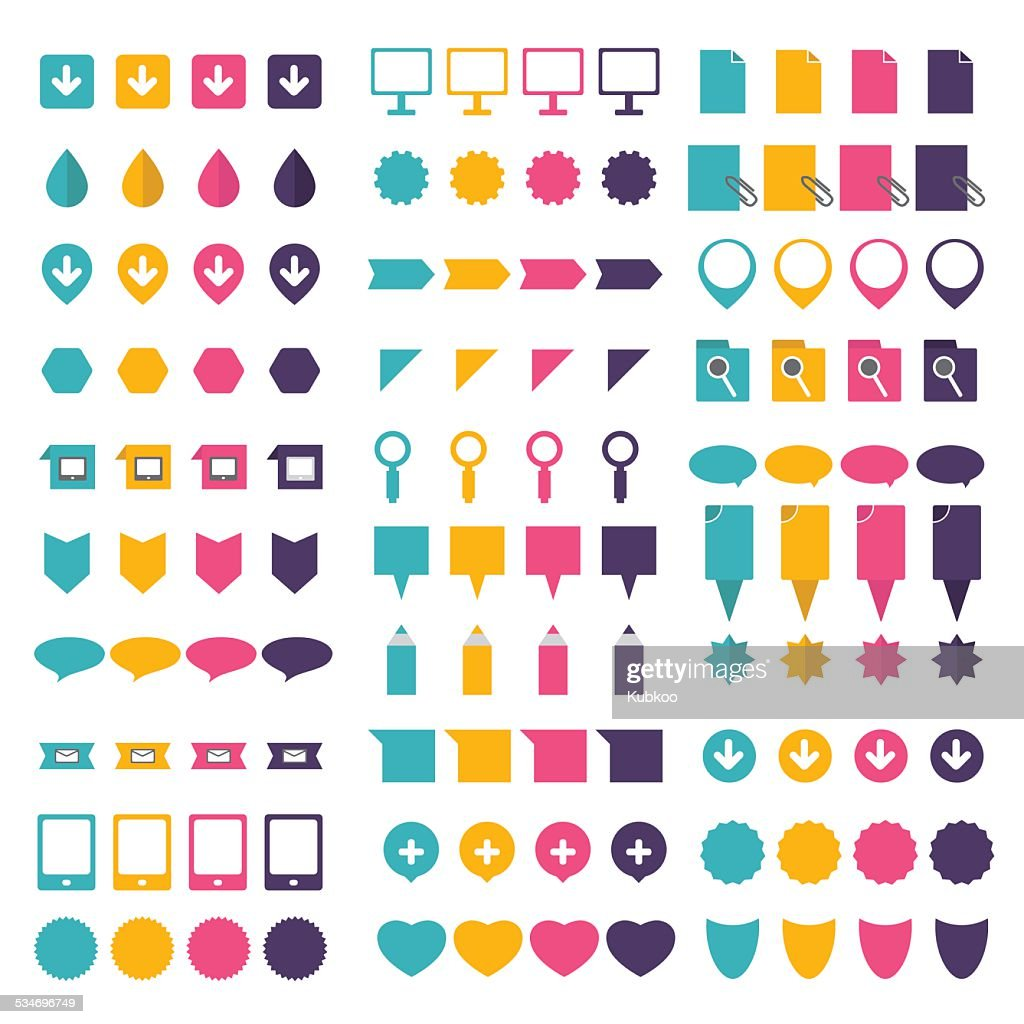Big set of flat icons.