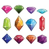 Big set of jewels and diamonds icons