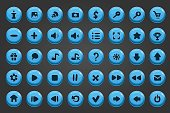 Big set of vector button 18