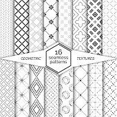 Big set of vector seamless patterns