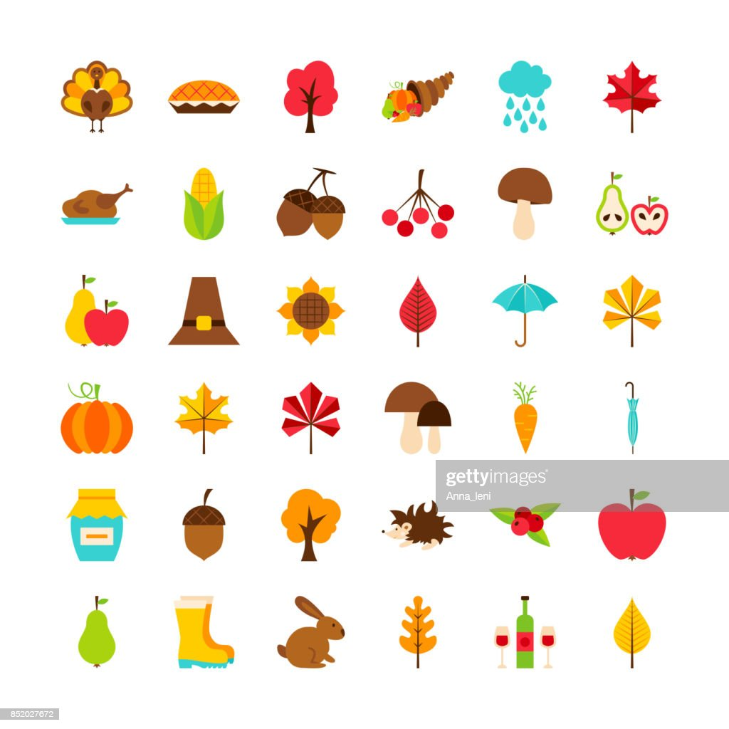 Big Set Thanksgiving Day Objects